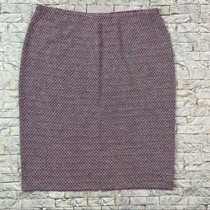 St. John Collection Pink Blue Black Tweed Skirt